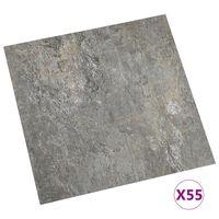 vidaXL Vloerplanken zelfklevend 55 st 5,11 m² PVC grijs