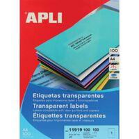Apli Transparante etiketten ft 210 x 297 mm (b x h), 100 stuks, 1 p...