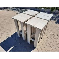 KSM-steigerhout - 4 stuks Barkruk Easy van White Wash steigerhout