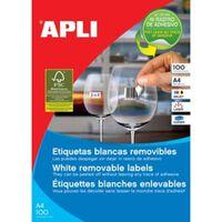 Apli afneembare witte etiketten ft 210 x 297 mm (b x h) (b x h), 10...