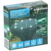 Grundig Grondspot - Solar - 8 LED's - Waterdicht - Zwart