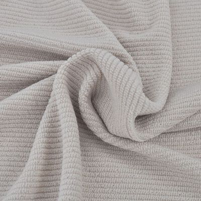 vidaXL Stoelhoes elastisch beige polyester boordsteek