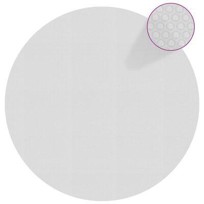 vidaXL Zwembadfolie solar drijvend 417 cm PE grijs