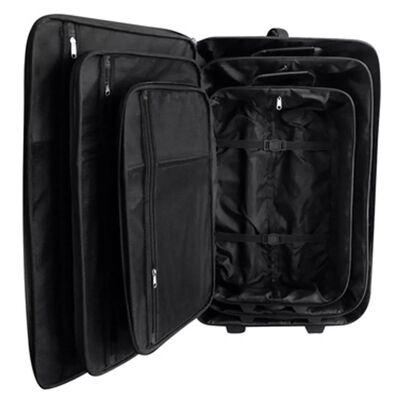 vidaXL Reisbagage set zwart 5-delig