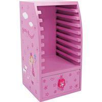 CD-kast Beauty Princess hout 27 cm roze
