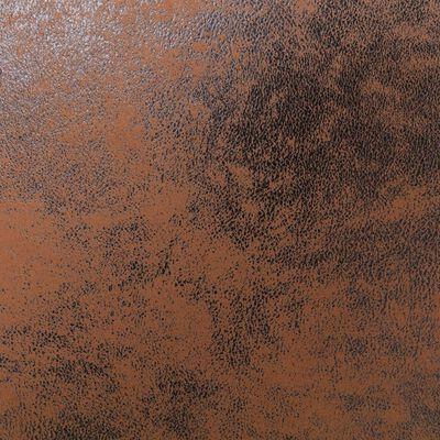 vidaXL Hoekbank kunstsuède bruin