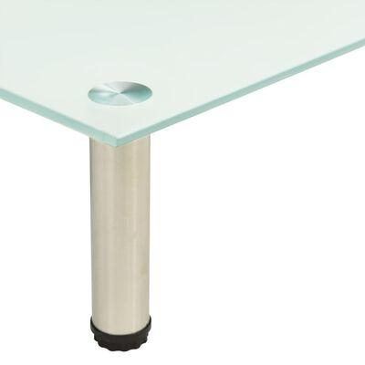 vidaXL Tv-meubel 140x35x17 cm gehard glas mat
