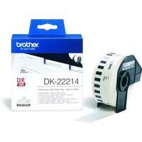 Brother DK-22214 Etiket Zwart op wit (12  mm)