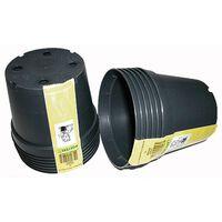 Container zwart 4l H17x dia. 21cm set a 3 stuks