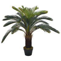 vidaXL Kunstplant met pot cycaspalm 90 cm groen