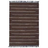 vidaXL Vloerkleed chindi handgeweven 200x290 cm katoen bruin