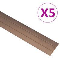 vidaXL Vloerprofielen 5 st 134 cm aluminium bruin