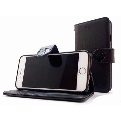 Samsung Galaxy S21 Plus - Antique Black Leren Portemonnee Hoesje -