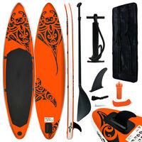 vidaXL Stand Up Paddleboardset opblaasbaar 320x76x15 cm oranje