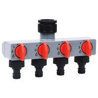 vidaXL Watertimer met 4-voudig ventiel automatisch
