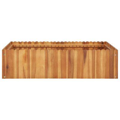 vidaXL Plantenbak verhoogd 100x100x25 cm massief acaciahout