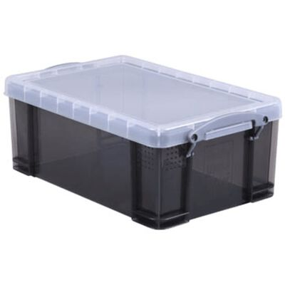 Really Useful Box 9 liter, transparant smoke