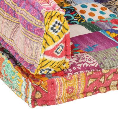 vidaXL Bankkussen pallet stof patchwork meerkleurig