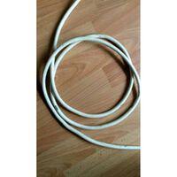 Minimaal 5 stuks afnemen, Witte kabel per meter geaard