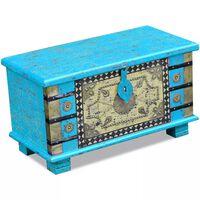 vidaXL Opbergkist 80x40x45 cm mangohout blauw