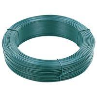 vidaXL Hekbinddraad 250 m 0,9/1,4 mm staal zwartachtig groen