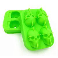 Ijsvorm Skull Siliconen Groen