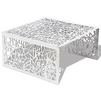 vidaXL Salontafel opengewerkt ontwerp aluminium zilverkleurig