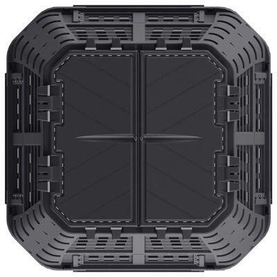 vidaXL Compostbak 740 L 93,3x93,3x113 cm zwart