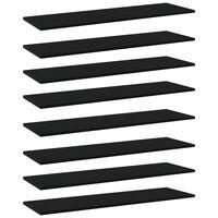 vidaXL Wandschappen 8 st 100x30x1,5 cm spaanplaat zwart