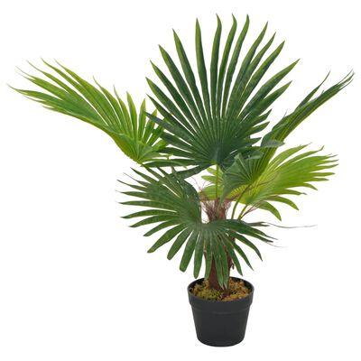vidaXL Kunstplant met pot palm 70 cm groen