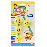 Toi-Toys smileygummen 4 stuks geel