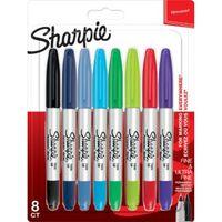 Sharpie permanente marker twin tip, blister van 8 stuks in geassort...,