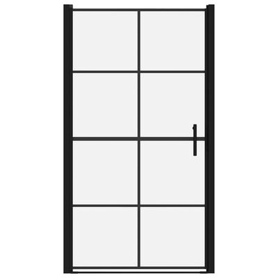 vidaXL Douchedeur 100x178 cm gehard glas zwart