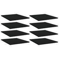 vidaXL Wandschappen 8 st 40x50x1,5 cm spaanplaat zwart