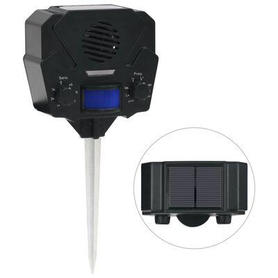 vidaXL Dierenverjager ultrasoon met bewegingssensor zonne-energie