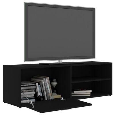 vidaXL Tv-meubel 120x34x37 cm spaanplaat zwart