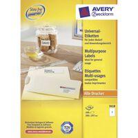 Etiket Avery ILK 210x297mm 100 vel 1 etiket per vel wit