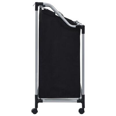 vidaXL Wassorteerder met 3 zakken staal zwart