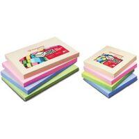 Pergamy notes, ft 76 x 76 mm, 4 geassorteerde pastel kleuren, pak van