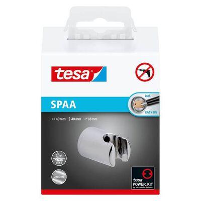 Tesa® Spaa douchekophouder, verchroomd, kunststof, zelfklevend