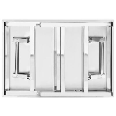 vidaXL Keukenwerktafel inklapbaar 85x60x80 cm roestvrij staal