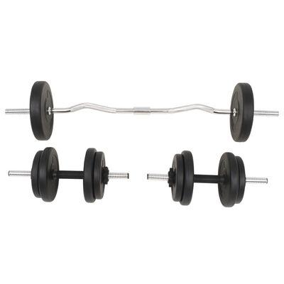 vidaXL Halterset 30 kg