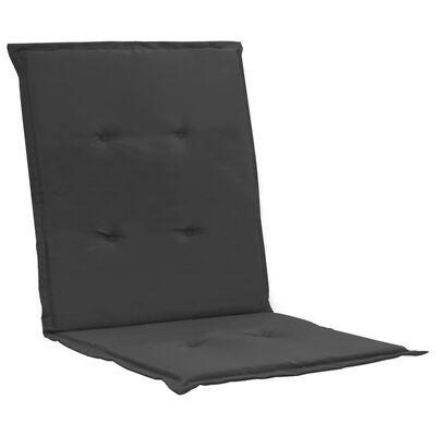 vidaXL Tuinstoelkussens 2 st 100x50x7 cm antraciet