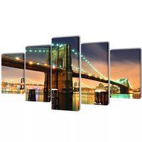 Canvasdoeken Brooklyn Bridge 100 x 50 cm