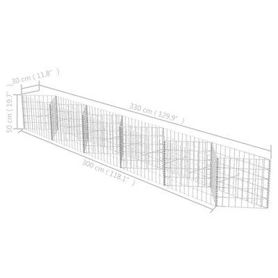 vidaXL Gabion mand 300x30x50 cm gegalvaniseerd staal