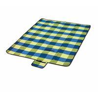 Picknick Deken 2x2 Meter Lichtblauw/groen Geruit
