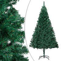 vidaXL Kunstkerstboom met dikke takken 240 cm PVC groen