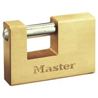 Master Lock Hangslot gepantserd massief messing 85 mm 608EURD