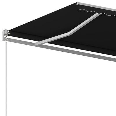 vidaXL Luifel vrijstaand automatisch 450x300 cm antracietkleurig