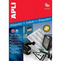 Apli Zilverkleurige etiketten ft 45,7 x 21,2 mm (b x h), 960 stuks,...